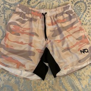 NEW Boys Athletic Shorts Large 12-14 Silky Basketball Workout Gym Camouflage